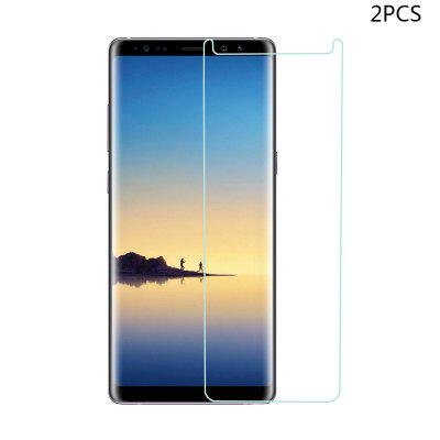 Minismile 2Pcs 0.2mm 9H 2.5D Explosion-Proof Anti-Scratch Tempered Glass Screen Protector Film for Samsung Galaxy Note 8