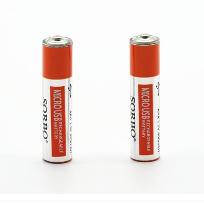 USB/Micro USB Rechargeable Battery AA / AAABatteries And Cases<br>USB/Micro USB Rechargeable Battery AA / AAA<br><br>Battery: AA,AAA<br>Battery Type: NiMH<br>Built-in Protected Circuit: Yes<br>Capacity (mAh): AA 1200mAh / AAA 400mAh<br>Charge Current: 1A<br>Charging Time.: 1 - 2 hours<br>Head Type: Button Top<br>Mercury Free: Yes<br>Over Current Protection: Yes<br>Over Voltage Protection: Yes<br>Over-charging Protection: Yes<br>Over-discharging Protection: Yes<br>Package Contents: 1 x Pair of Batteries<br>Package size (L x W x H): 2.00 x 2.00 x 5.00 cm / 0.79 x 0.79 x 1.97 inches<br>Package weight: 0.0210 kg<br>Product weight: 0.0140 kg<br>Protected: Yes<br>Rechargeable: Yes<br>Short Circuit Protection: Yes<br>Type: Battery<br>Voltage(V): 1.5V