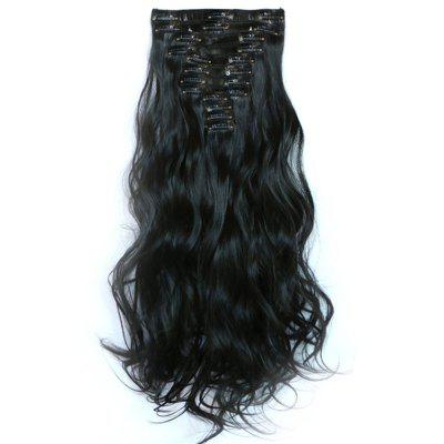 12 pcs/Set Hair Extensions Accessory Women Fashion Solid Color Long Curly Pattern Chemical Fiber Stylish Wigs
