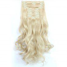 12 pcs/Set Hair Extensions Women Fashion Long Curly Pattern Chemical Fiber Stylish Wigs