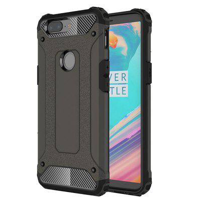 Shockproof Rugged Impct Hybrid Armor Silicone Back Cover Phone Stand Back Case para OnePlus 5T