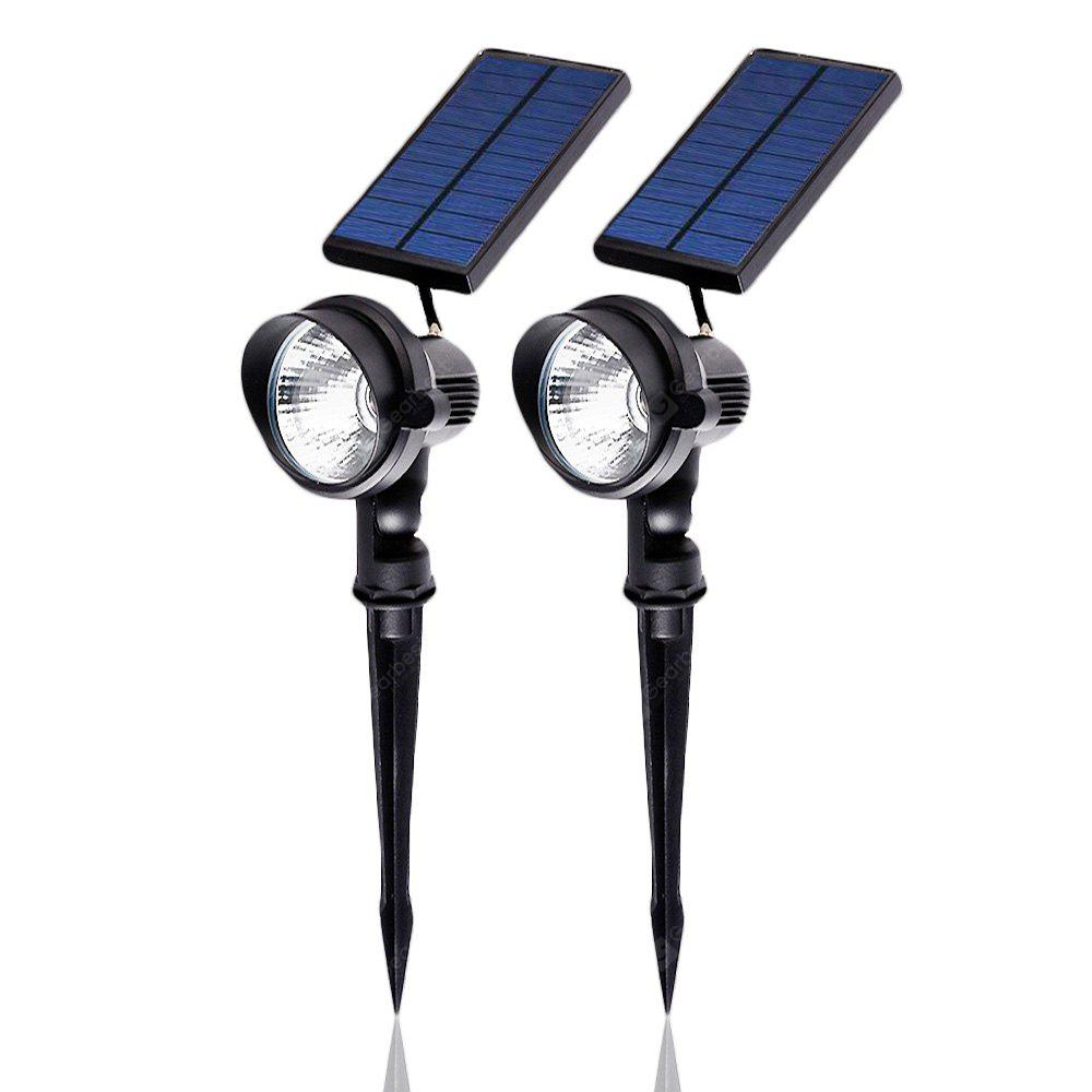 Outdoor Waterproof Solar Spotlight Auto On Off 2 Pack 4452 Free Flood Light Floodlight Lamp High Power Black Case With 1m Cable Wire Shipping