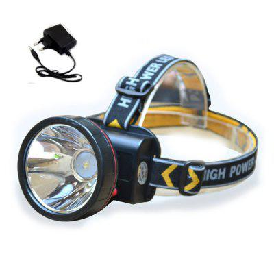HKV 10W LED Headlamp Lâmpada de mineiro Light LightLight Long Range com bateria recarregável
