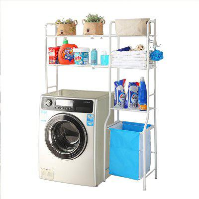 Storage Shelf  Adjustable 3 Tiers Shelf Space Saver Cabinet for Laundry or Bathroom