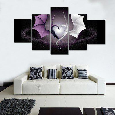 Cheap Abstract Canvas Art Home Canvas Wall Painting 5 Piece ...