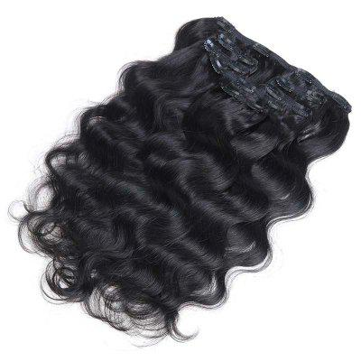 Body Wave Chinese Remy Hair Full Head Natural 7 pieces Black Hair Clip In Human Hair Extensions RC0915