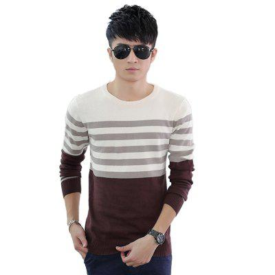 Buy KHAKI L Men'S Winter Warm Knitted Sweater Casual Pullover Round Neck Long Sleeve Slim Top for $45.00 in GearBest store