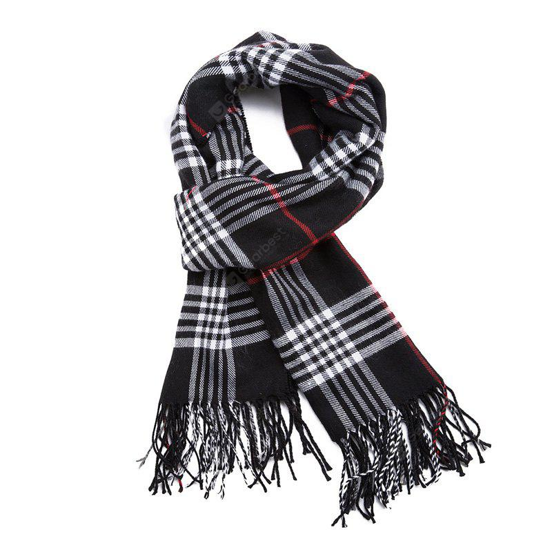 British Style of Men'S Warm and Thick Matching Scarf