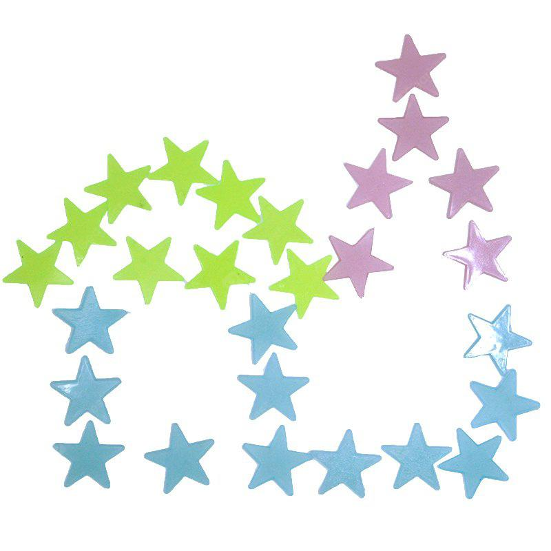 1SET Kids Bedroom Beautiful Fluorescent Glow In The Dark Stars Wall Stickers (100PCS) -Colore