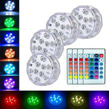 Submersible LED Lights Battery Powered Remote Controlled RGB Light for Aquarium
