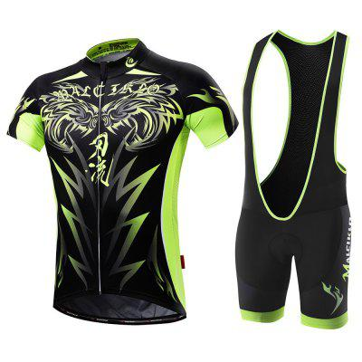 Malciklo 18 Maillots Cyclisme Jersey Collants Hommes Short Rompers Bike Compression Suits Rapide Sec