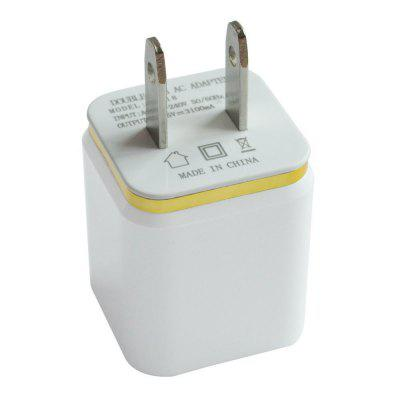 Dual USB Wall Charger 12 Watt for Apple and Android Devices US Plug