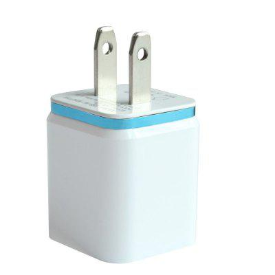 Dual USB Wall Charger 12 Watt voor Apple en Android apparaten US Plug