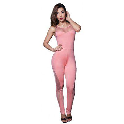 Buy PINK M Small and Fresh Style Simple Fashion Jumpsuit for $25.18 in GearBest store