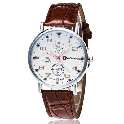 ZhouLianFa New Trendy Fashion Bamboo Silver Dial Business Casual Sports Quartz
