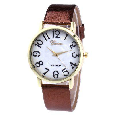 ZhouLianFa New Trendy Fashion Crocodile Pattern Gold Digital Quartz Watch