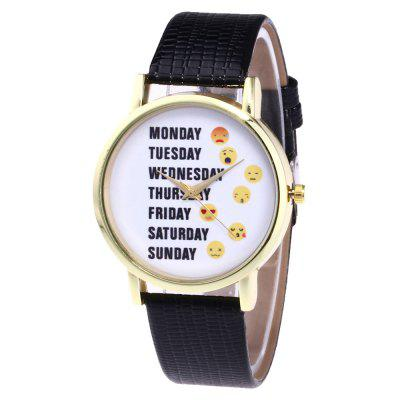 ZhouLianFa New Trendy Fashion Crocodile Pattern Gold Letter Quartz Watch