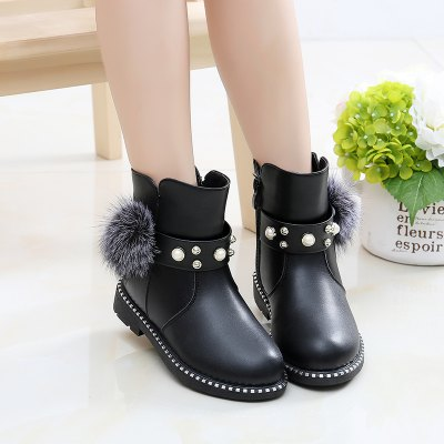 Winter Fur Ankle Autumn Kids Martin Boots zorssar 2017 new autumn winter women boots high heels platform ankle martin boots female genuine leather casual womens shoes