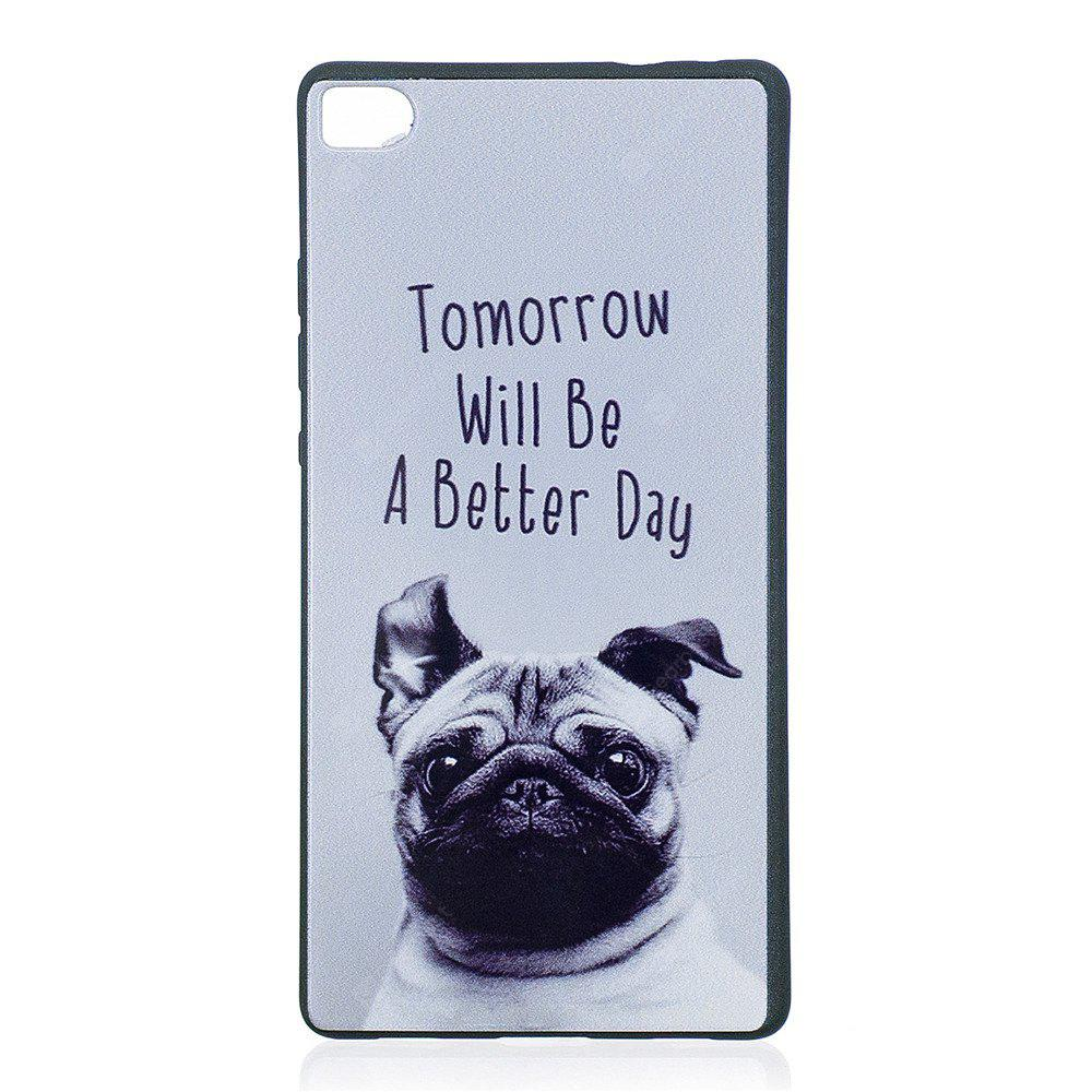 Phone Case for Huawei P8 Pet dog Fashion Cartoon Relief Soft Silicone TPU Cover Cases Protection Phone Bag