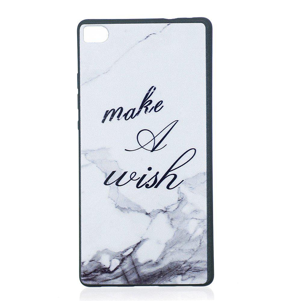Phone Case for Huawei P8 Marbling Fashion Cartoon Relief Soft Silicone TPU Cover Cases Protection Phone Bag