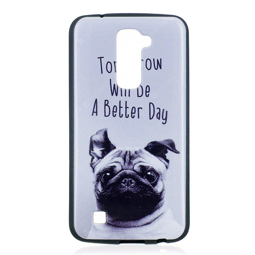for LG K10 Cover Cases LG M2 / K420N / K430DS Phone Case Pet dog Fashion Relief Soft Silicone TPU Protection Phone Bag