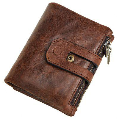 Anti-Theft Brush Leather Wallet