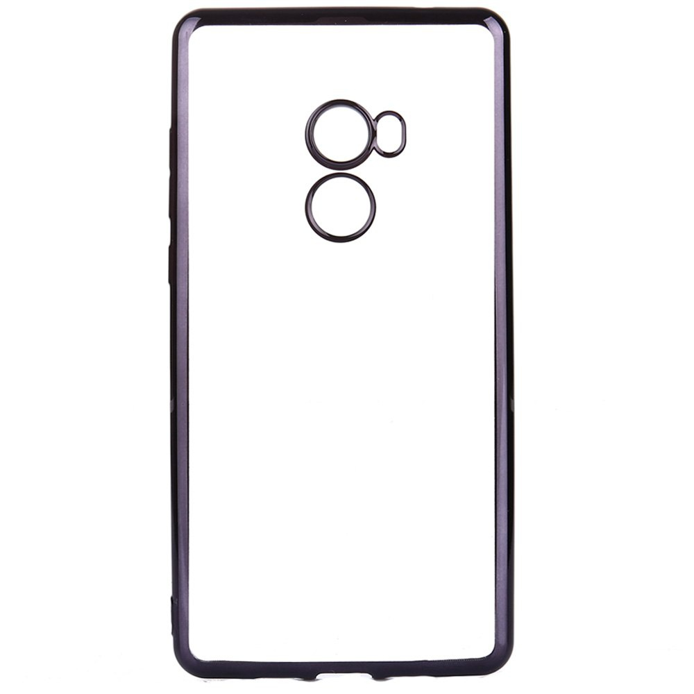 Transparent Back Case for Xiaomi MIX 2 Electroplating TPU Soft Cover Protector