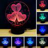 3D Led Night Light 7 Colors Changing touch Lamp Creative Gift - WHITE