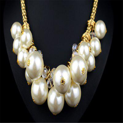 European and American Fashion Big Pearl NecklaceNecklaces &amp; Pendants<br>European and American Fashion Big Pearl Necklace<br><br>Gender: For Women<br>Item Type: Chokers Necklaces<br>Material: Pearl<br>Metal Type: Others<br>Package Contents: 1 x necklace<br>Package size (L x W x H): 1.00 x 1.00 x 1.00 cm / 0.39 x 0.39 x 0.39 inches<br>Package weight: 0.1630 kg<br>Product weight: 0.1530 kg<br>Shape/Pattern: Round<br>Style: Classic<br>Surface Plating: 14K Gold Plated