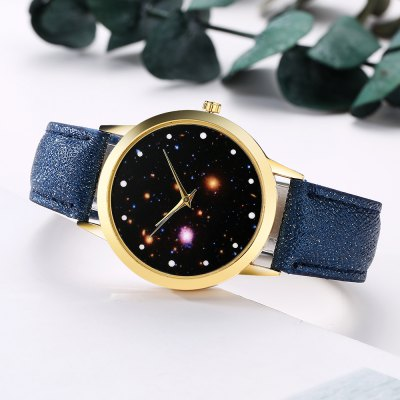 GAIETY G372 Womens Night Sky Quartz WatchWomens Watches<br>GAIETY G372 Womens Night Sky Quartz Watch<br><br>Band material: PU Leather<br>Band size: 24x1.8 cm<br>Case material: Metal<br>Clasp type: Pin buckle<br>Dial size: 4x4x0.7 cm<br>Display type: Analog<br>Movement type: Quartz watch<br>Package Contents: 1 x Watch<br>Package size (L x W x H): 24.50 x 4.50 x 1.00 cm / 9.65 x 1.77 x 0.39 inches<br>Package weight: 0.0280 kg<br>Product size (L x W x H): 24.00 x 4.00 x 0.70 cm / 9.45 x 1.57 x 0.28 inches<br>Product weight: 0.0260 kg<br>Shape of the dial: Round<br>Watch mirror: Mineral glass<br>Watch style: Jewellery, Childlike, Lovely, Classic, Fashion, Casual<br>Watches categories: Women,Female table<br>Water resistance: No