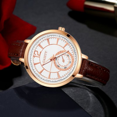 GAIETY G325 Women Fashion Leather WatchWomens Watches<br>GAIETY G325 Women Fashion Leather Watch<br><br>Band material: PU<br>Band size: 21.5 x 1 CM<br>Case material: Metal<br>Clasp type: Pin buckle<br>Dial size: 3.5 x 3.5 x 0.7 CM<br>Display type: Analog<br>Movement type: Quartz watch<br>Package Contents: 1 x Watch<br>Package size (L x W x H): 25.00 x 4.50 x 1.00 cm / 9.84 x 1.77 x 0.39 inches<br>Package weight: 0.0300 kg<br>Product size (L x W x H): 21.50 x 3.50 x 0.70 cm / 8.46 x 1.38 x 0.28 inches<br>Product weight: 0.0240 kg<br>Shape of the dial: Round<br>Watch mirror: Mineral glass<br>Watch style: Classic, Childlike, Fashion, Casual<br>Watches categories: Women,Female table<br>Water resistance: No