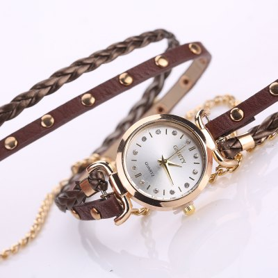 GAIETY G368 Women Watch Wrap Around Leather Band Quartz WatchesWomens Watches<br>GAIETY G368 Women Watch Wrap Around Leather Band Quartz Watches<br><br>Band material: PU<br>Band size: 57 x 1.3 cm<br>Case material: Alloy<br>Dial size: 2.6 x 2.6 x 0.8 cm<br>Display type: Analog<br>Movement type: Quartz watch<br>Package Contents: 1 x Watch<br>Package size (L x W x H): 25.00 x 5.00 x 1.00 cm / 9.84 x 1.97 x 0.39 inches<br>Package weight: 0.0310 kg<br>Product size (L x W x H): 57.00 x 2.60 x 0.80 cm / 22.44 x 1.02 x 0.31 inches<br>Product weight: 0.0290 kg<br>Shape of the dial: Round<br>Watch mirror: Mineral glass<br>Watch style: Jewellery, Fashion, Retro, Casual, Cool, Lovely, Childlike, Wristband Style<br>Watches categories: Women,Female table<br>Water resistance: No