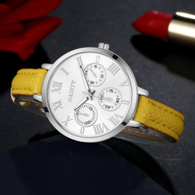 GAIETY G359 Women Watch Fashion Leather Band Wrist WatchesWomens Watches<br>GAIETY G359 Women Watch Fashion Leather Band Wrist Watches<br><br>Band material: PU<br>Band size: 21.5 x 1 CM<br>Case material: Metal<br>Clasp type: Pin buckle<br>Dial size: 3.5 x 3.5 x 0.7 CM<br>Display type: Analog<br>Movement type: Quartz watch<br>Package Contents: 1 x Watch<br>Package size (L x W x H): 24.00 x 4.00 x 1.00 cm / 9.45 x 1.57 x 0.39 inches<br>Package weight: 0.0260 kg<br>Product size (L x W x H): 21.50 x 3.50 x 0.70 cm / 8.46 x 1.38 x 0.28 inches<br>Product weight: 0.0240 kg<br>Shape of the dial: Round<br>Watch mirror: Mineral glass<br>Watch style: Childlike, Fashion, Casual<br>Watches categories: Women,Female table<br>Water resistance: No