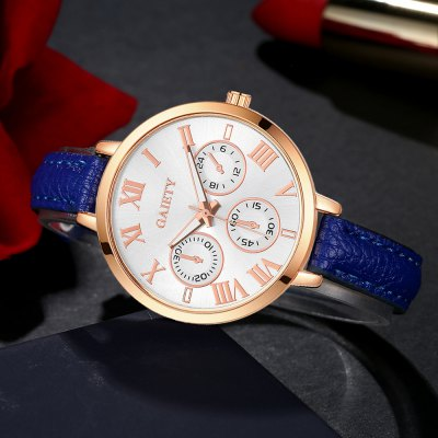 GAIETY G358 Women Watch Leather Band Wrist Watches Rose Gold ToneWomens Watches<br>GAIETY G358 Women Watch Leather Band Wrist Watches Rose Gold Tone<br><br>Band material: PU<br>Band size: 21.5 x 1 CM<br>Case material: Metal<br>Clasp type: Pin buckle<br>Dial size: 3.5 x 3.5 x 0.7 CM<br>Display type: Analog<br>Movement type: Quartz watch<br>Package Contents: 1 x Watch<br>Package size (L x W x H): 24.00 x 4.00 x 1.00 cm / 9.45 x 1.57 x 0.39 inches<br>Package weight: 0.0260 kg<br>Product size (L x W x H): 21.50 x 3.50 x 0.70 cm / 8.46 x 1.38 x 0.28 inches<br>Product weight: 0.0240 kg<br>Shape of the dial: Round<br>Watch mirror: Mineral glass<br>Watch style: Childlike, Fashion, Casual<br>Watches categories: Women,Female table<br>Water resistance: No