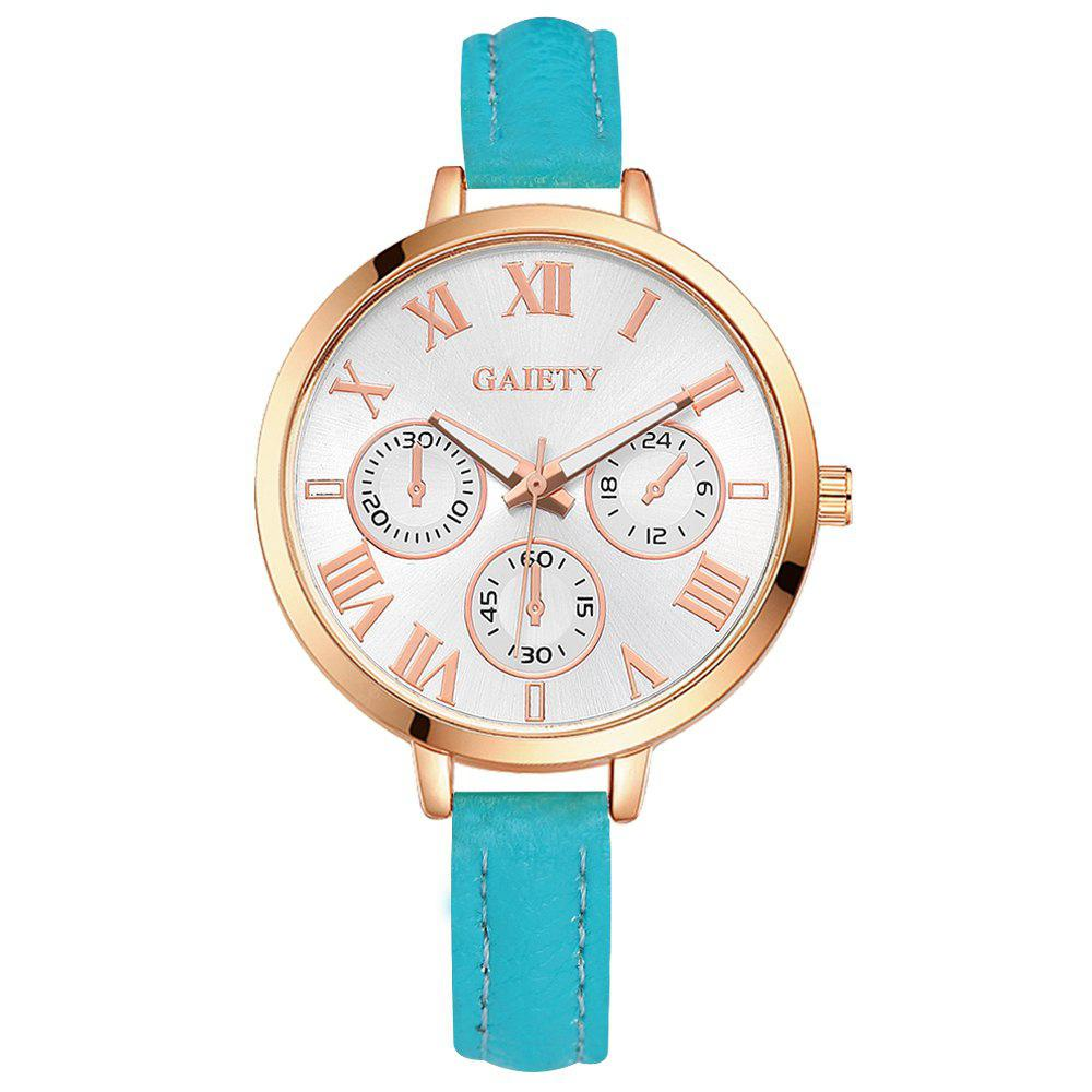 GAIETY G358 Women Watch Leather Band Wrist Watches Rose Gold Tone