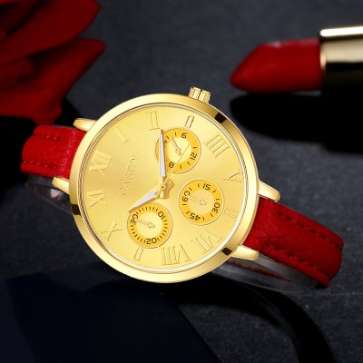 GAIETY G357 Women Watch Small Leather Strap Golden Dial Dress WatchesWomens Watches<br>GAIETY G357 Women Watch Small Leather Strap Golden Dial Dress Watches<br><br>Band material: PU<br>Band size: 21.5 x 1 CM<br>Case material: Metal<br>Clasp type: Pin buckle<br>Dial size: 3.5 x 3.5 x 0.7 CM<br>Display type: Analog<br>Movement type: Quartz watch<br>Package Contents: 1 x Watch<br>Package size (L x W x H): 24.00 x 4.00 x 1.00 cm / 9.45 x 1.57 x 0.39 inches<br>Package weight: 0.0260 kg<br>Product size (L x W x H): 21.50 x 3.50 x 0.70 cm / 8.46 x 1.38 x 0.28 inches<br>Product weight: 0.0240 kg<br>Shape of the dial: Round<br>Watch mirror: Mineral glass<br>Watch style: Childlike, Fashion, Casual<br>Watches categories: Women,Female table<br>Water resistance: No