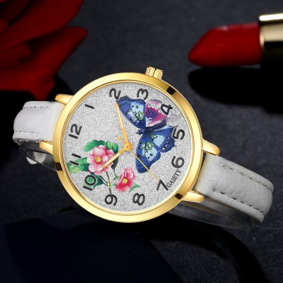 GAIETY G351 Women Flowers Dial Leather Band Quartz WatchesWomens Watches<br>GAIETY G351 Women Flowers Dial Leather Band Quartz Watches<br><br>Band material: PU<br>Band size: 21.5 x 1 CM<br>Case material: Metal<br>Clasp type: Pin buckle<br>Dial size: 3.5 x 3.5 x 0.7 CM<br>Display type: Analog<br>Movement type: Quartz watch<br>Package Contents: 1 x Watch<br>Package size (L x W x H): 24.00 x 4.00 x 1.00 cm / 9.45 x 1.57 x 0.39 inches<br>Package weight: 0.0260 kg<br>Product size (L x W x H): 21.50 x 3.50 x 0.70 cm / 8.46 x 1.38 x 0.28 inches<br>Product weight: 0.0240 kg<br>Shape of the dial: Round<br>Watch mirror: Mineral glass<br>Watch style: Classic, Childlike, Fashion, Casual<br>Watches categories: Women,Female table<br>Water resistance: No