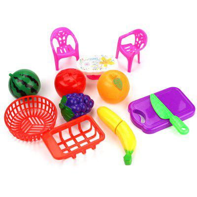 Children Play Simulation Kitchen and Joy Fruits and Vegetables and Interactive Educational Toys Suit