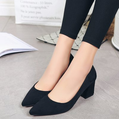 Suede Thick with Simple WomenS ShoesWomens Pumps<br>Suede Thick with Simple WomenS Shoes<br><br>Available Size: 35 36 37 38 39<br>Heel Type: Chunky Heel<br>Lining Material: PU<br>Occasion: Dress<br>Package Contents: 1xshoes(pair)<br>Pumps Type: Basic<br>Season: Spring/Fall<br>Toe Shape: Pointed Toe<br>Toe Style: Closed Toe<br>Upper Material: Flock<br>Weight: 1.5000kg