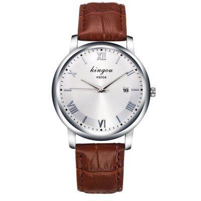 New Fashion Trends Luxury White Calendar Band Quartz Watch