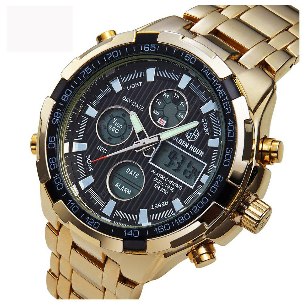 brand dp watches time gold com golden watch fashion relogio quartz men dual luxury amazon sports