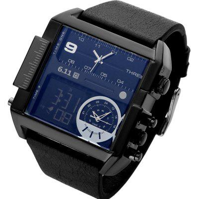 Buy Luxury Brand Men Analog Digital Leather Sports Watches Men'S Army Military Watch Man Quartz Clock Relogio Masculino BLACK for $19.61 in GearBest store