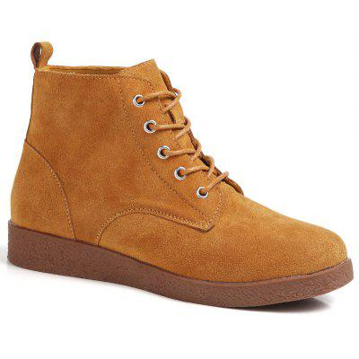 Suede Leather High Rubber Soles Shoes
