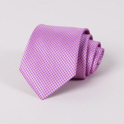 Men Pure Colour Yarn Dyed Polyester Neckties