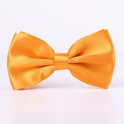 Pure Color Man Satin Silk Texture Bow