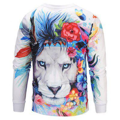 Fashion Casual Personality Trend 3D Animal Print Long Sleeve  SweatshirtMens Hoodies &amp; Sweatshirts<br>Fashion Casual Personality Trend 3D Animal Print Long Sleeve  Sweatshirt<br><br>Material: Polyester<br>Package Contents: 1xsweatshirt<br>Shirt Length: Regular<br>Sleeve Length: Full<br>Style: Fashion<br>Weight: 0.2000kg
