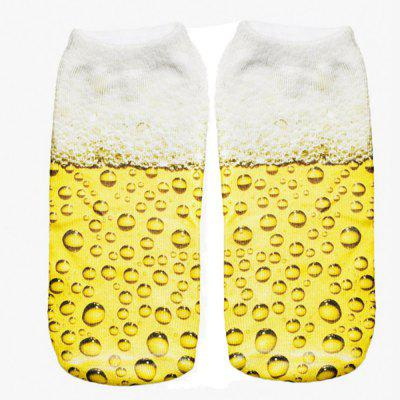 Buy MIXCOLOR Beer Graphic 3D Graphic Full Printing Sock Women Low Cut Ankle Socks for $7.87 in GearBest store