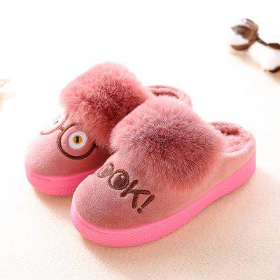 Warrior Children Cotton Mop Female Winter New Baby Warm Cotton Slippers Child Home Leisure Shoes newborn photography props child headband baby hair accessory baby hair accessory female child hair bands infant accessories