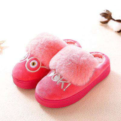 Warrior Children Cotton Mop Female Winter New Baby Warm Cotton Slippers Child Home Leisure Shoes 2017 new pattern small children s garment baby twinset summer motion leisure time digital vest shorts basketball suit