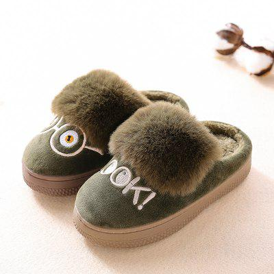 Warrior Children Cotton Mop Female Winter New Baby Warm Cotton Slippers Child Home Leisure Shoes winter slippers men leather warm plush slippers home slide indoor men shoes man slippers size 42 45 mens shoes zapatos hombre 11